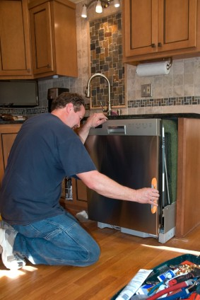 Dishwasher install in Bethlehem CT by Larlin's Home Improvement handyman.