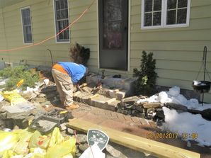 Rebuilding Front Steps in Milford, CT (1)
