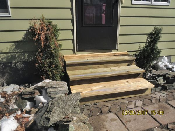 Rebuilding Front Steps in Milford, CT (3)